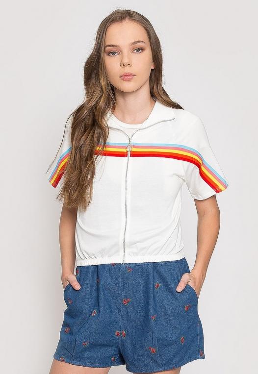 Retro Rainbow Trim Track Jacket alternate img #1