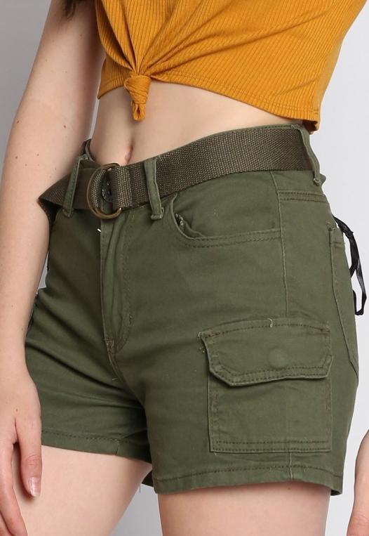 Jungle Belted Cargo Shorts alternate img #6