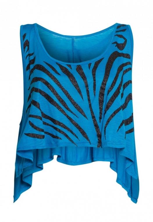 Animal Print Crop Top in Blue alternate img #7
