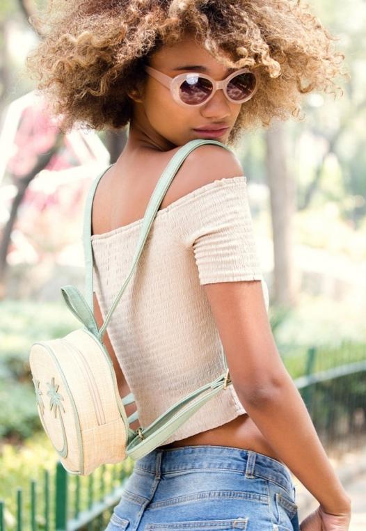 All Smiles Sunny Straw Mini Backpack alternate img #1