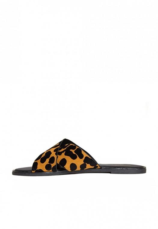 Miranda Leopard Slider Sandals alternate img #3
