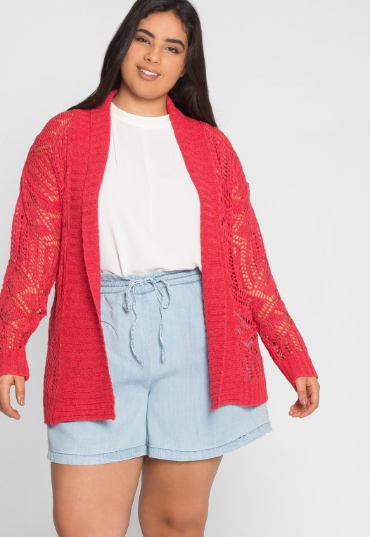 Plus Size Spring Air Crochet Cardigan alternate img #5