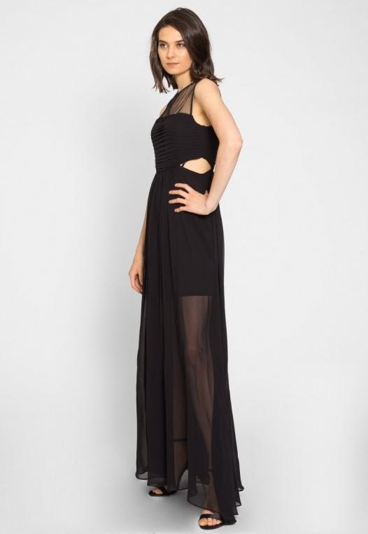 Shine Cut Out Chiffon Maxi Dress alternate img #1