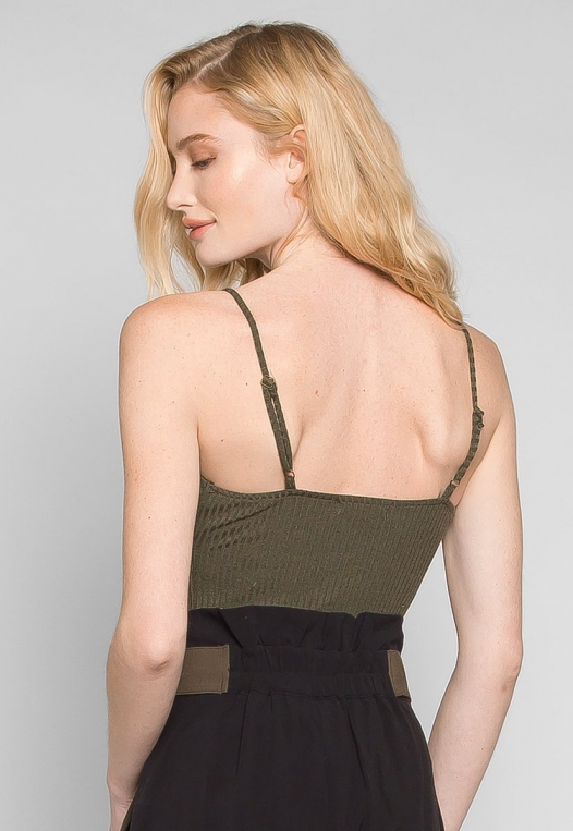 Sparrow Twisted Front Ribbed Bodysuit alternate img #2