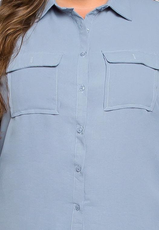 Plus Size Erin Flap Pockets Shirt alternate img #6