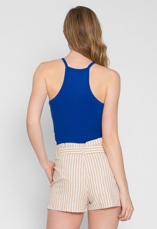 Canyon Halter Crop Top in Blue alternate img #2