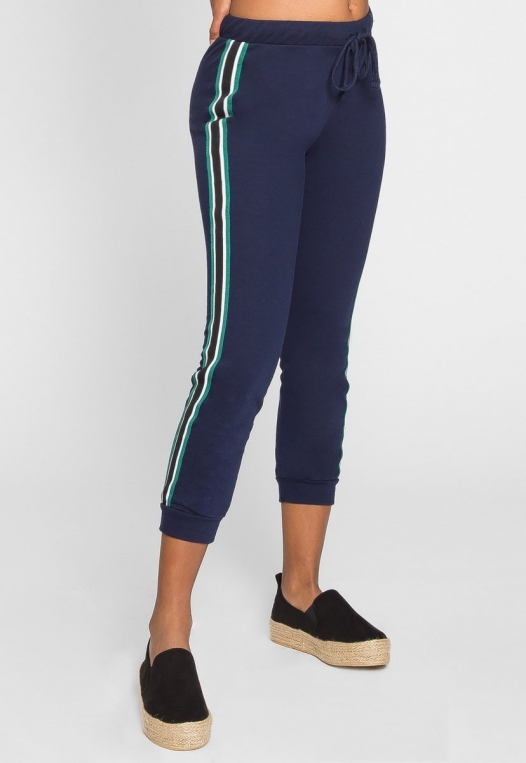 Luck Active Side Tape Joggers in Navy alternate img #4