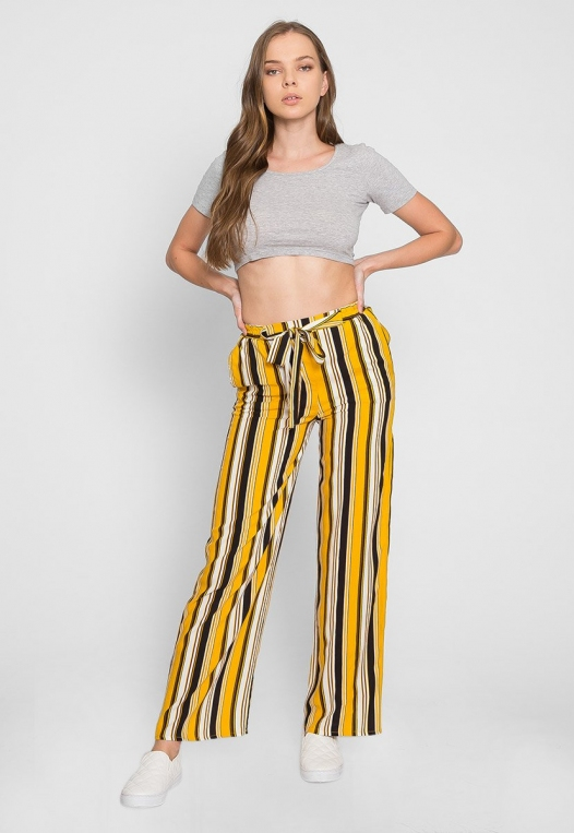 Sunsets High Waist Stripe Pants alternate img #1