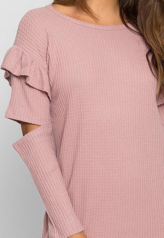Milkshake Knit Dress in Light Pink alternate img #6