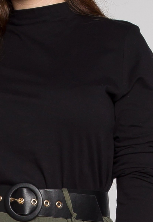 Plus Size Iris Mock Neck Top in Black alternate img #6