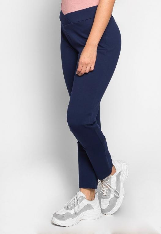 Plus Size Macaroon V-Waist Leggings in Navy alternate img #3