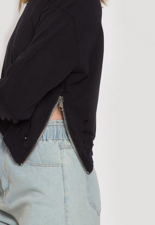 Laid Back Distressed Sweatshirt alternate img #6