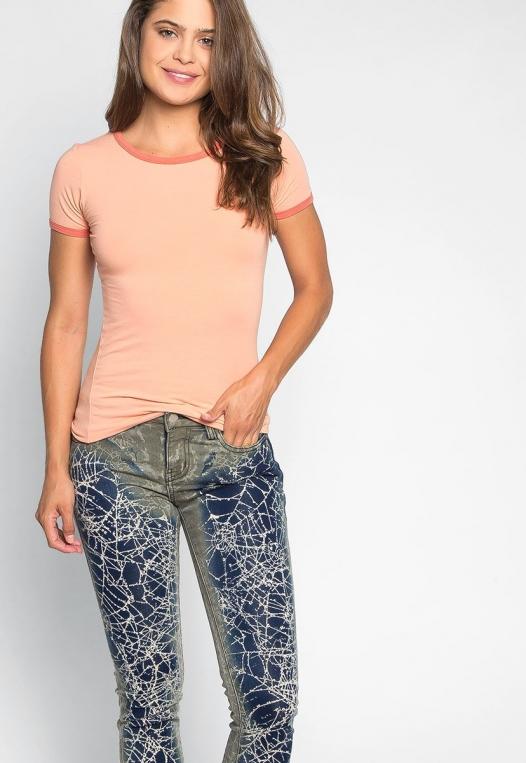 Intricate Graphic Skinny Jeans alternate img #5