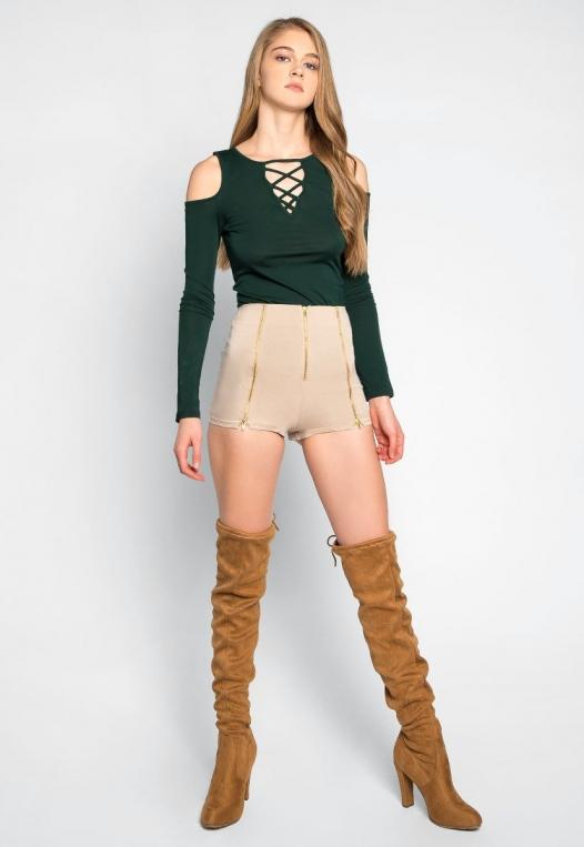 Chainlink High Waist Shorts alternate img #5