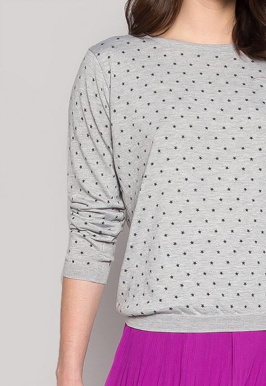 Soft Star Printed Sweater in Gray alternate img #6