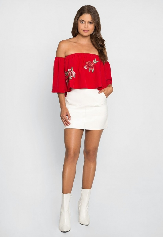 Free Soul Embroidered Top in Red alternate img #4