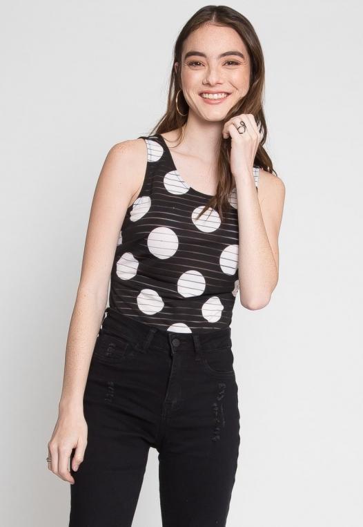 Connections Polka Dot Sheer Bodysuit alternate img #1