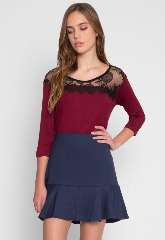 School Dance Drop Waist Skirt alternate img #1