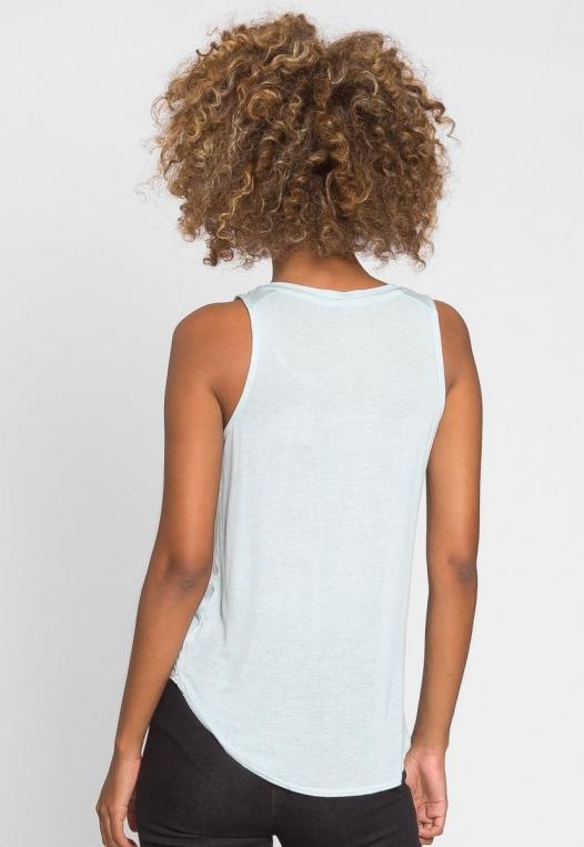 Soft Knit Tank Top in Light Blue alternate img #3