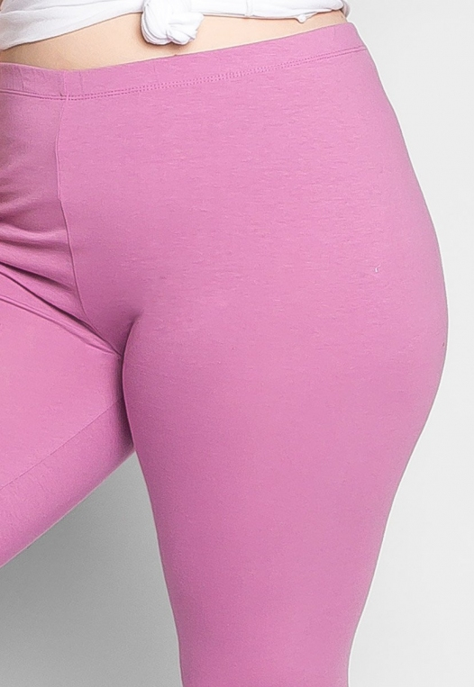 Plus Size Cotton Candy Leggings in Lavender alternate img #6