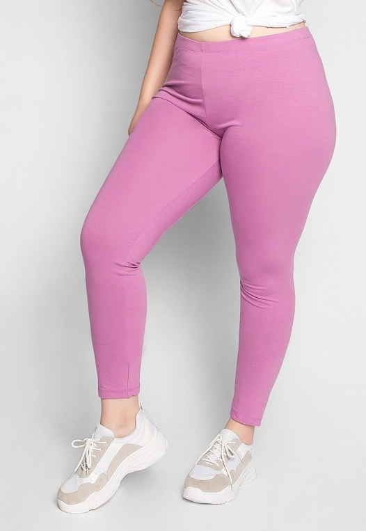 Plus Size Cotton Candy Leggings in Lavender alternate img #3