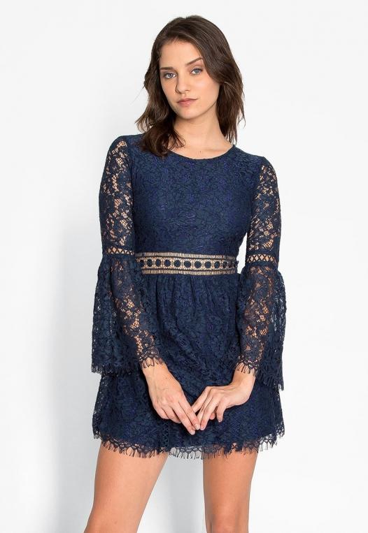 Last Dance Lace Mini Dress alternate img #1