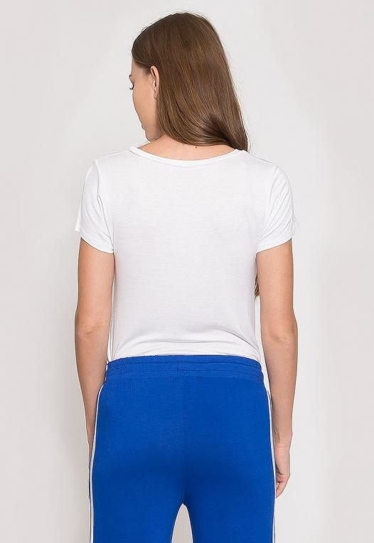 Oregon Oversized V-Neck Pocket Tee in White alternate img #3