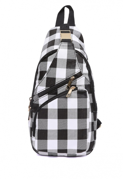 Picnic Gingham Convertible Sling Backpack alternate img #1
