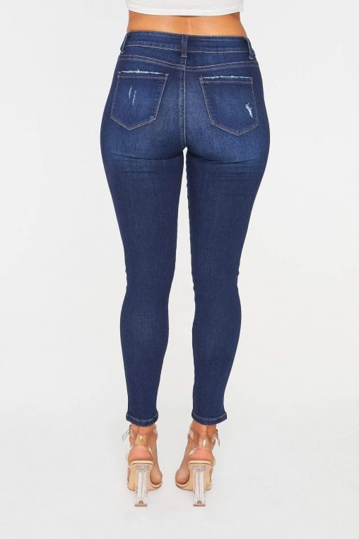 Classic Distressed Ankle Grazer Skinny Jean alternate img #3