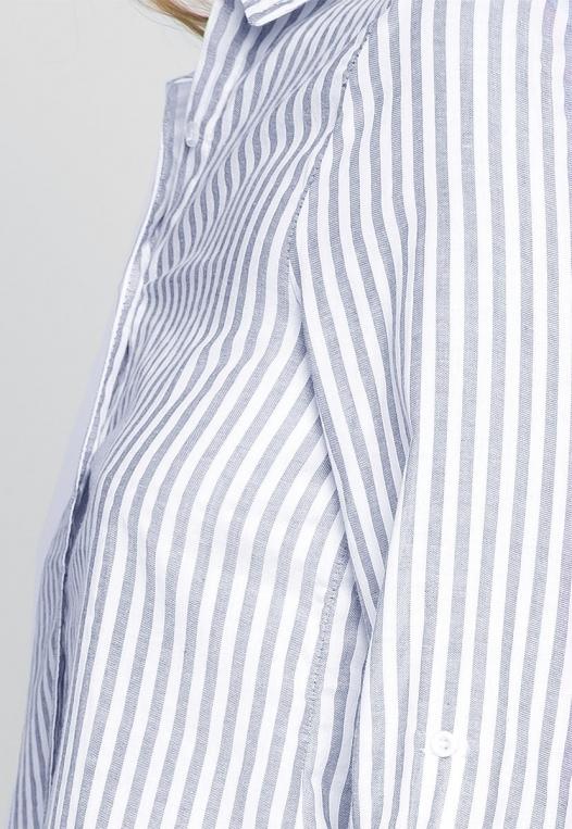 Bosslady Striped Shirt in Navy alternate img #6