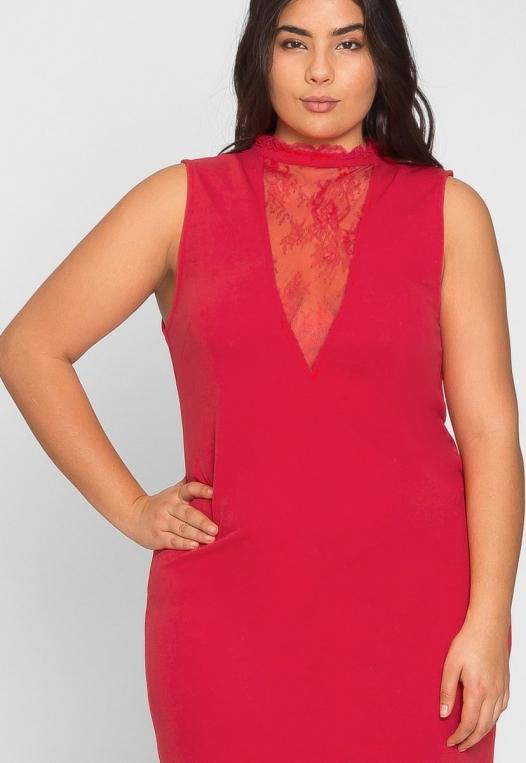 Plus Size Celebration Dress in Red alternate img #6