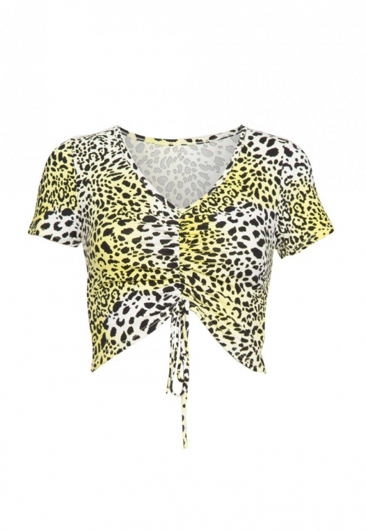 Dreamer Cheetah Ruched Top alternate img #8