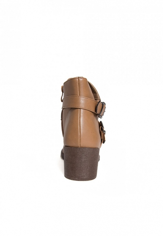 Tavern Buckle Ankle Boots in Taupe alternate img #2