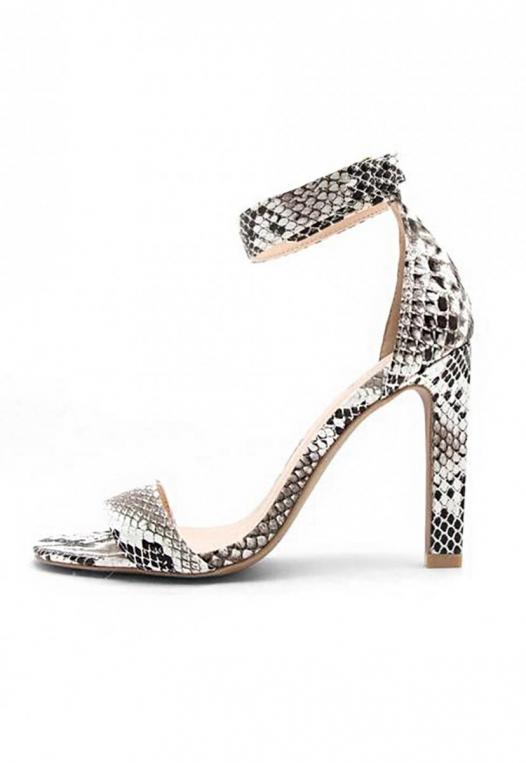 Soleil Snakeskin Ankle Strap Heels alternate img #3