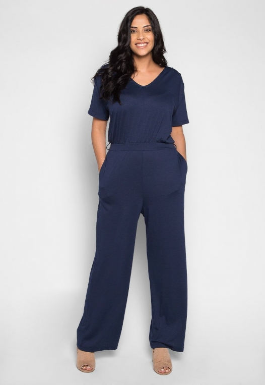 Plus Size Only You V Neck Jumpsuit alternate img #4