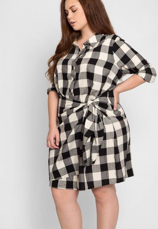 Plus Size Buffalo Plaid Dress alternate img #5
