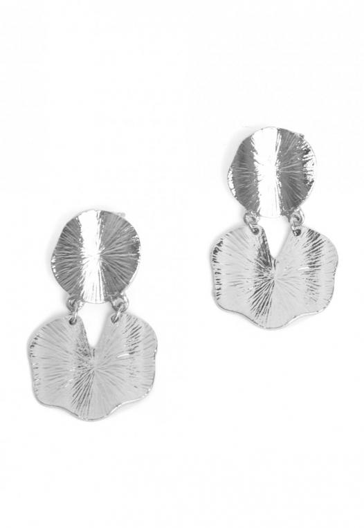 Elusive Statement Earrings in Silver alternate img #2