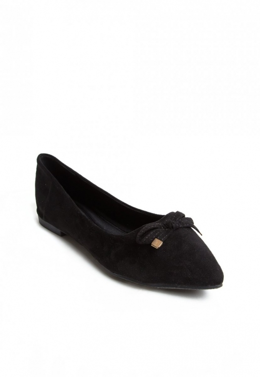 Lee Bow Front Flats in Black alternate img #4