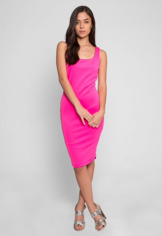 Newport Bodycon Dress in Pink alternate img #5