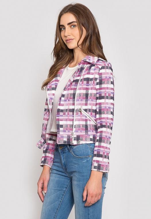 Ellen Plaid Moto Jacket alternate img #3
