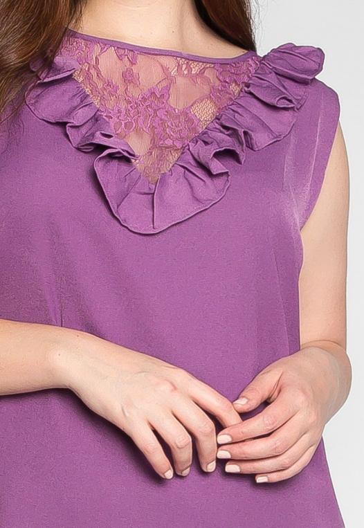 Plus Size Lavender Fields Ruffle Mini Dress in Purple alternate img #6