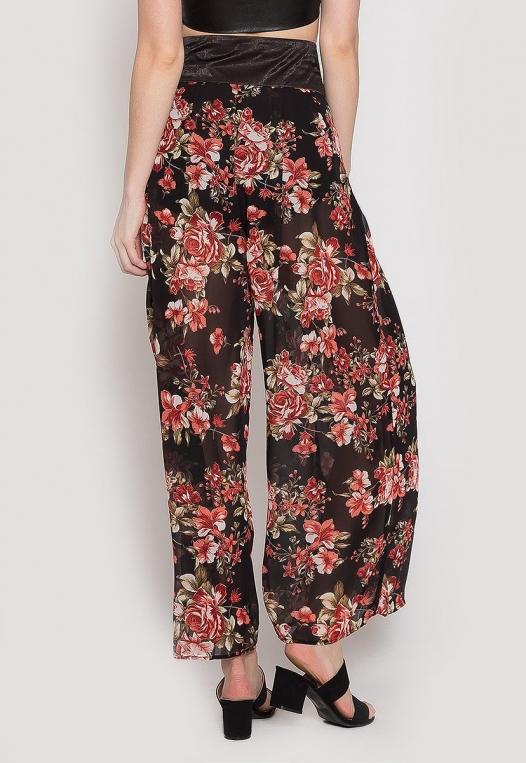 Samba Semi Sheer Flower Pants alternate img #3