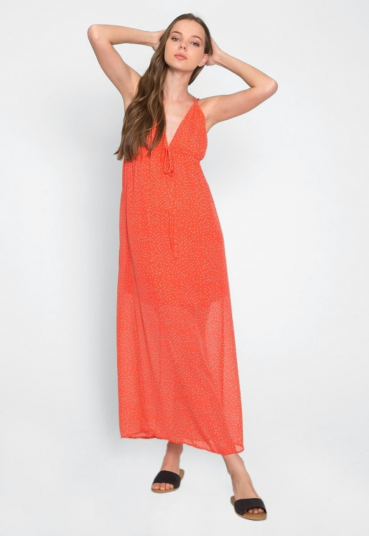 Sundae Polka Dot Chiffon Maxi Dress alternate img #2