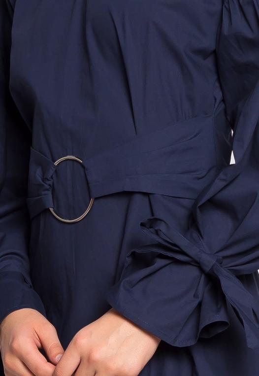 Under the Moonlight Crochet Hem Belted Dress alternate img #6
