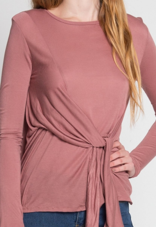Monday Morning Jersey Knit Top in Mauve alternate img #7