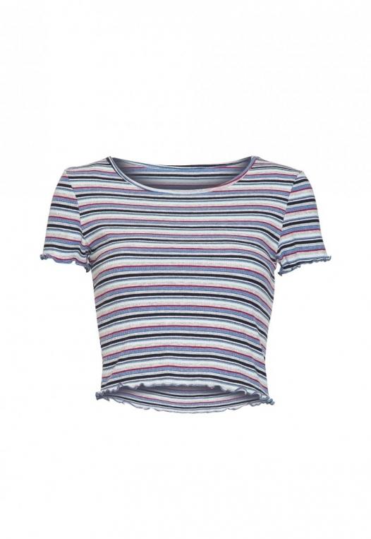 Baby Girl Stripe Crop Top in Blue alternate img #7
