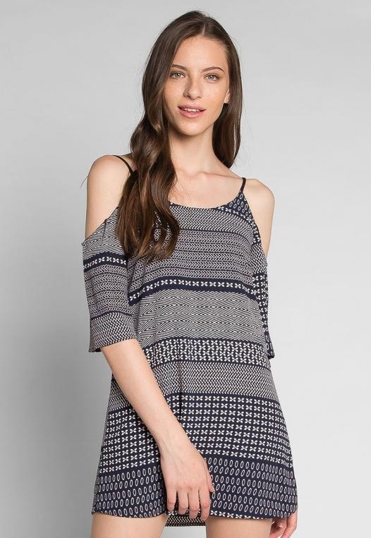 Good Vibes Printed Mini Dress alternate img #1