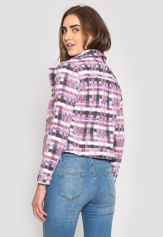 Ellen Plaid Moto Jacket alternate img #2