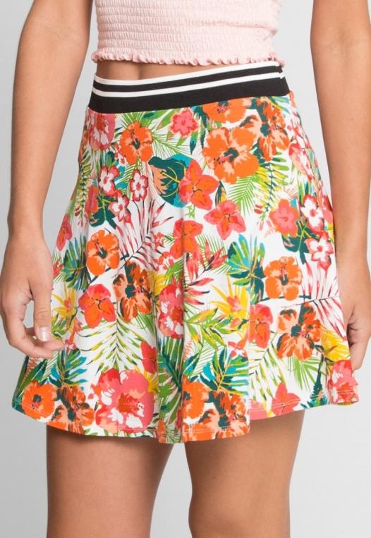 Halfmoon Tropic Print Flare Skirt alternate img #4