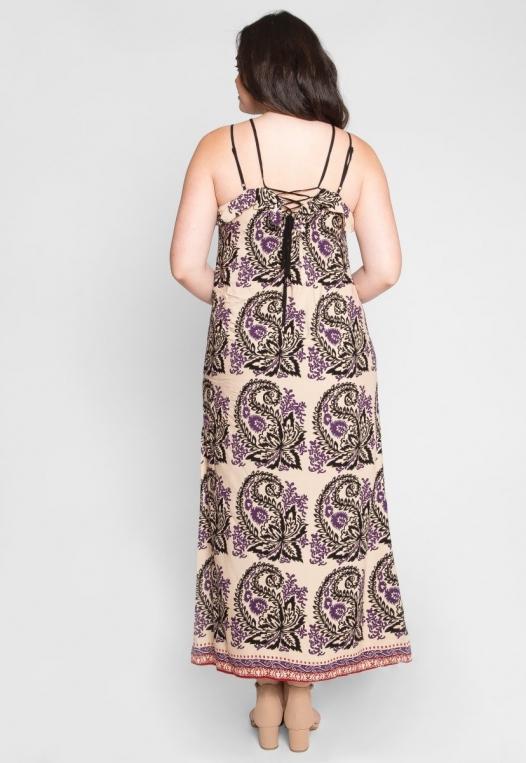 Plus Size Stevie Ornate Maxi Dress alternate img #3